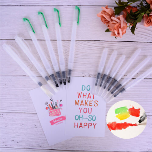 6X Refillable Water Color Soft Painting Brush Marker Watercolour Drawing Pen PDH