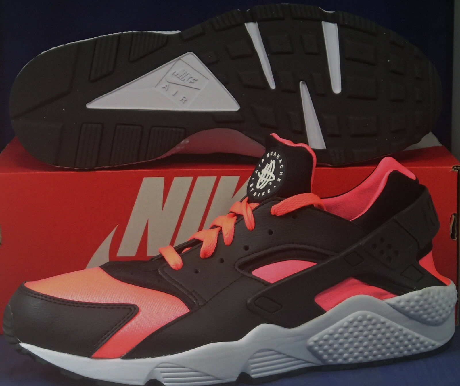 93aa028ee8 Nike Air Huarache Run iD Black Hot Lava White SZ 13 ( 777330-994 ...