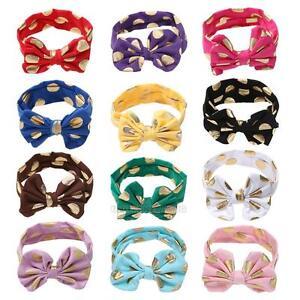Cute-Girls-Kids-Baby-Metallic-Turban-Knot-Rabbit-Headband-Bow-Hairband-Head-Band