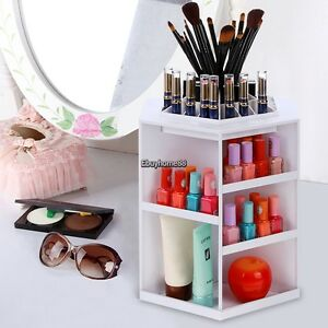 Details about Spinning Makeup Cosmetic Organizer 360 Degree Rotating  Display Stand Storage