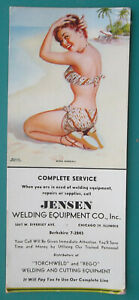 PIN-UP-GIRL-Miss-Nassau-Beach-Jensen-Welding-Equipment-1950s-INK-BLOTTER