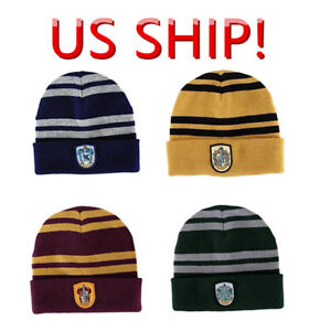 b2325148bec US SHIP! Harry Potter Hogwarts Beanie Hat Gryffindor Warm Cap Hat ...
