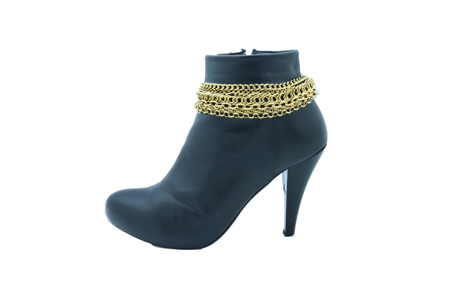 Women Boot Bracelet Antique Gold Metal Chain Cool Anklet Gothic Cool Shoe Charm