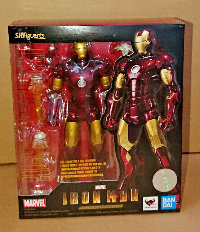 Bandai S.h Figuarts Iron Man Mk 3 Mark Figura De Acción Marvel