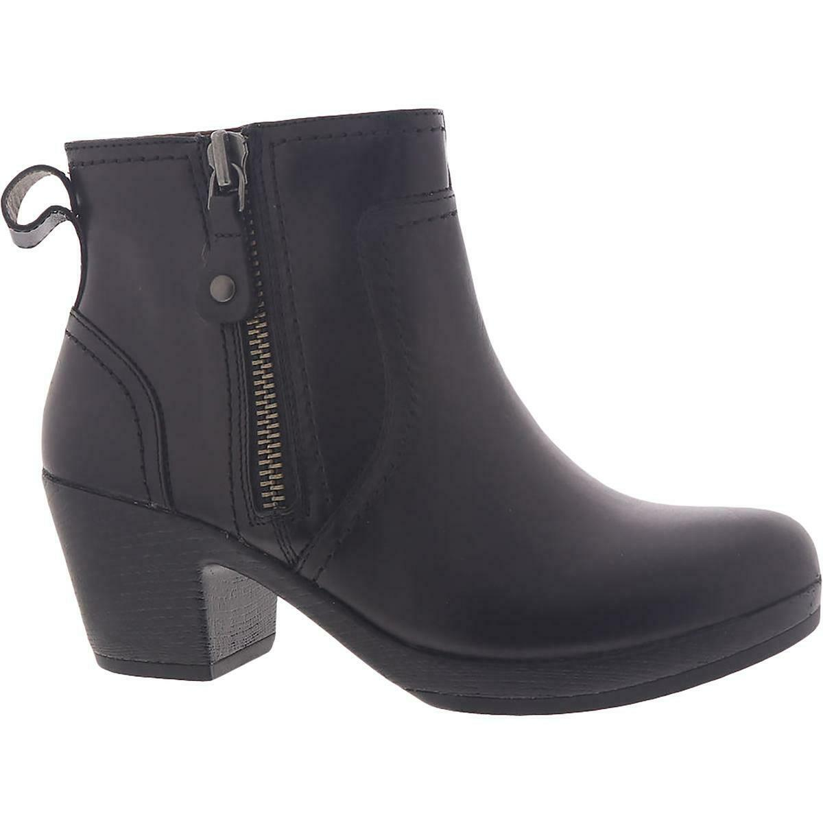Cobb Hill Womens Presley Leather Stacked Heel Zipper Ankle Boots Shoes BHFO 8028