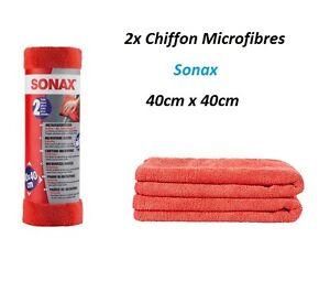 2x-SONAX-CHIFFON-MICROFIBRE-EXTERIEUR-POLISH-ANTI-RAYURE-Mini