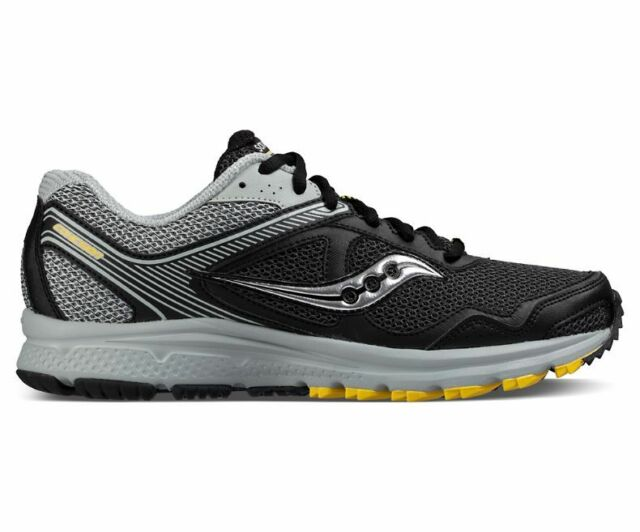 Saucony Mens Grid Ramble TR2 Running Shoes Black//Silver//Blue 13T1