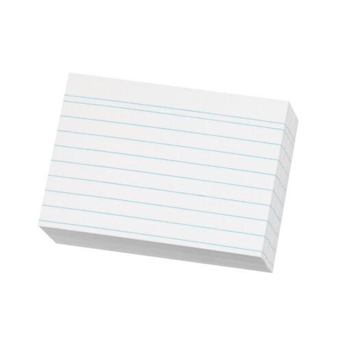 liniert weiß Farbe 200 Herlitz Karteikarten DIN A8