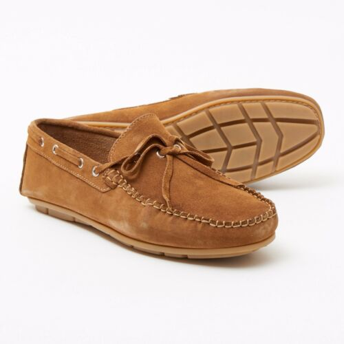 MENS GENUINE SUEDE LEATHER MOCCASINS