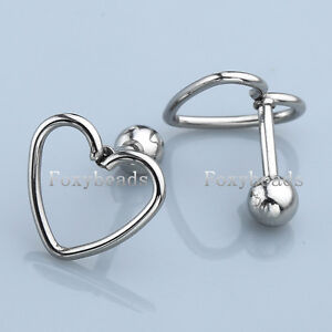 2pc-Stainless-Steel-Heart-16G-Barbell-Ear-Tragus-Cartilage-Helix-Stud-Earring