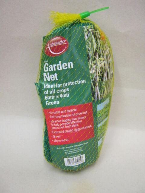 New Ambassador Garden Net Green 15mm Mesh 6Mtr X 4Mtr