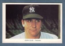 Circa 1971 New York Yankees 4x6-inch card: JOHN ELLIS (Very Good-Plus)
