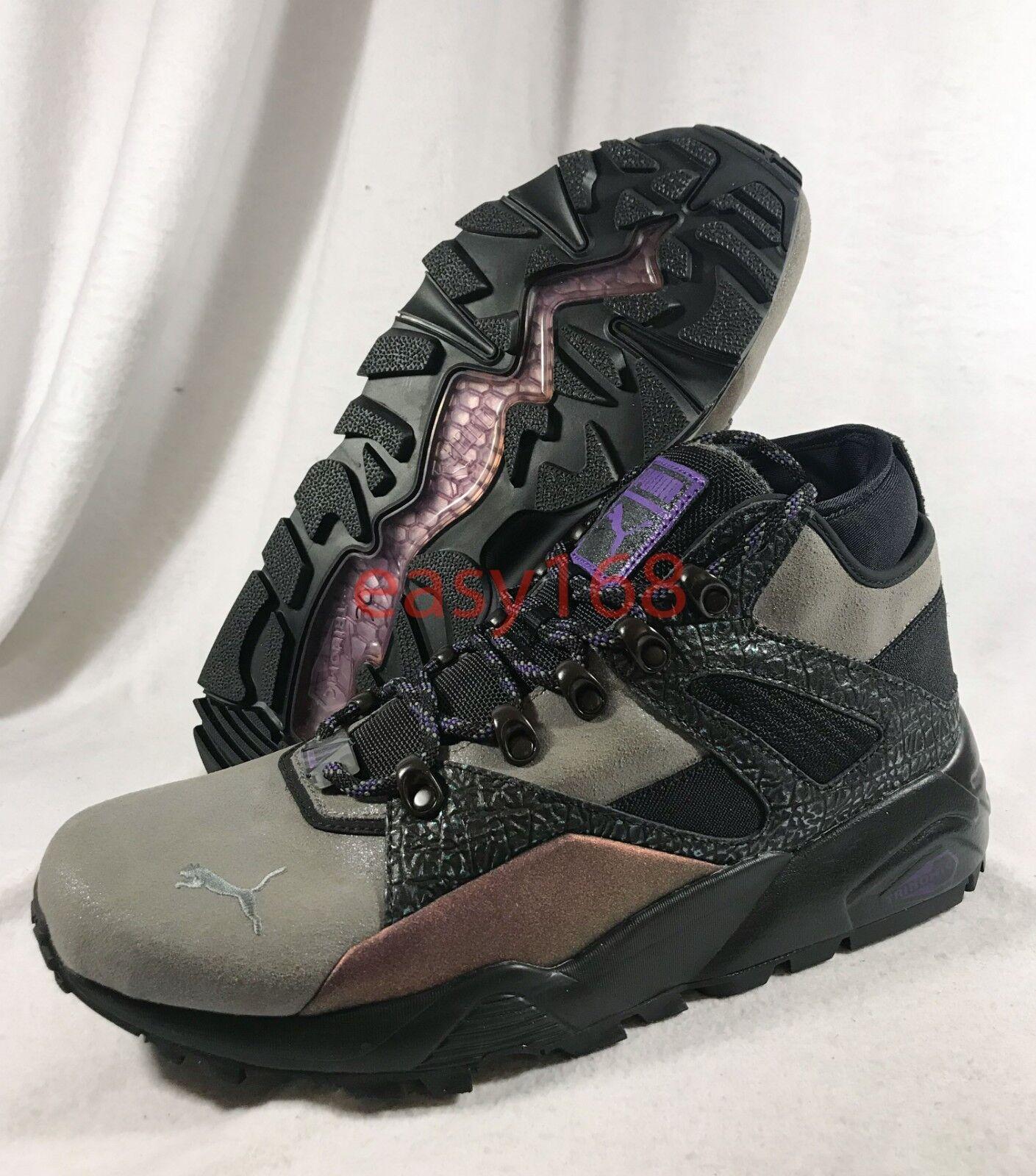 Nuevas botas Puma Blaze of Glory para hombres Cuero 363297 Trinomic 45 Calcetín púrpuraa