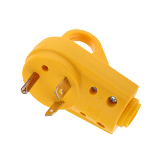 125V 30 AMP Male Plug RV Replacement 10AWG//3C Connector Heavy Duty Handle
