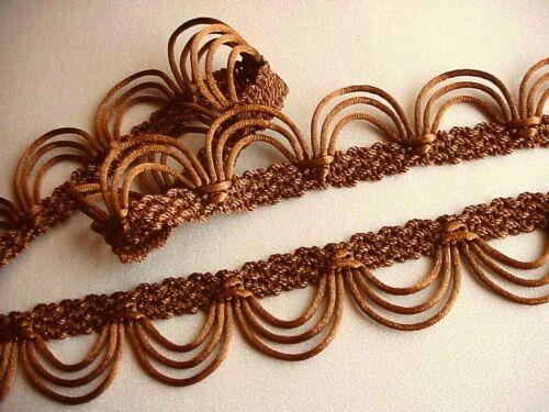 "1 3//8/"" Chestnut Rattail Scallop Braid Gimp Fringe Trim Lampshades Craft PER YARD"