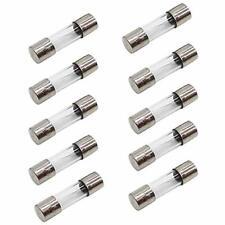 10Pcs F5AL250V 5A 250V Axial 5 amp Fast Quick Blow Fuse Glass 3x10mm