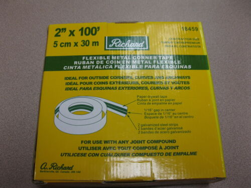 "2""x100' Flexible Metal Corner Tape by Richard #18459"
