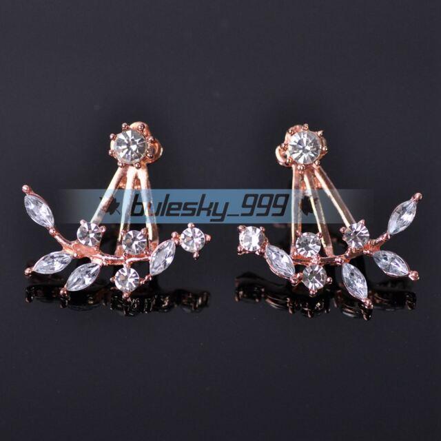 1 Pair Fashion Women Lady Elegant Crystal Rhinestone Ear Stud Earrings Charms