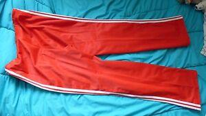 Detalles de Pantalones Adidas Ventex WTA chándal rojo mujer