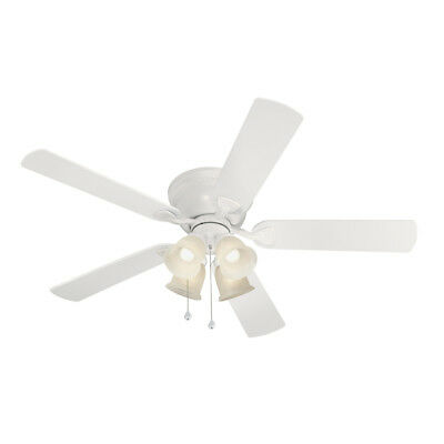 Ceiling Fan With 4 Lights White Indoor