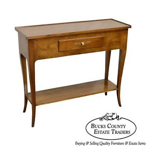 John Widdicomb Vintage French Louis XV Style Fruitwood Console w ...