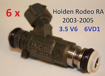 6 GENUINE Fuel Injectors for Holden RODEO RA 3.5L V6 isuzu 6EV1 2003-2005