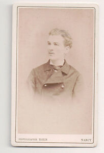 Vintage-CDV-Handsome-Young-French-Man-L-Marin-Photo-Nancy-France