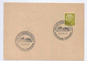 1958-Postal-Cover-Postcard-Horse-Racing-at-Iffezheim-Baden-Baden-Racecourse