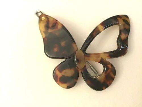 Paris Haarspange Haarklammer Haarclip Schmetterlinge Dunkelbraun Honig Naturharz