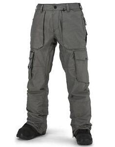 2016-NWT-MENS-VOLCOM-GI-SNOWBOARD-PANTS-L-vintage-black-modern-relaxed-logo