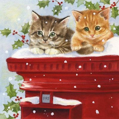 SAPIN DE NO/ËL Holly vert rouge blanc paquet de 20 Serviettes en Papier Serviettes 13  x 13