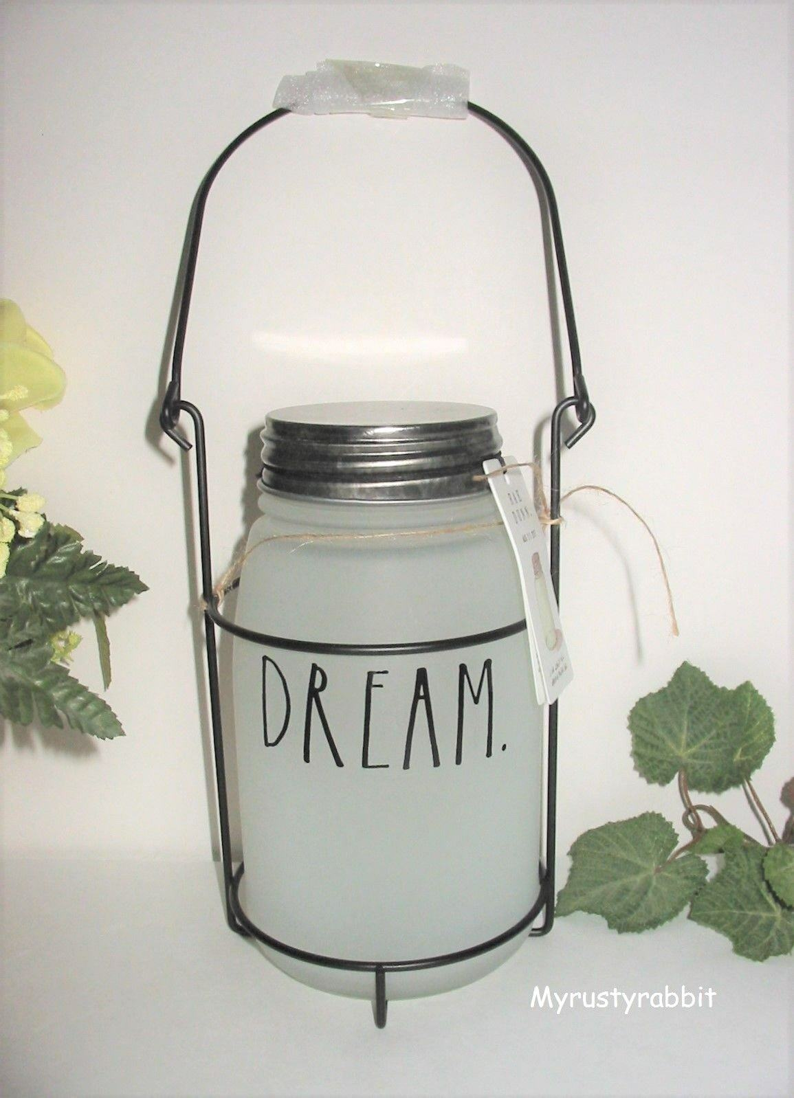 Rae Dunn Dream Frosted Glass Mason Jar Hanging Lantern Home Decor For Sale Online Ebay