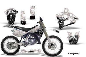 Graphics-Kit-Decal-Sticker-Wrap-Plates-For-Yamaha-YZ125-YZ250-91-92-REAPER-W