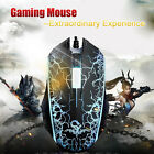 Professional Backlight Optical 1200 DPI Wired Gaming Mouse for Laptop & PC BLACK