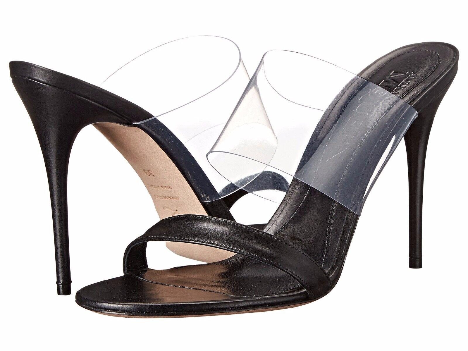 Retail  595 Alexander McQueen Black Leather Sandal Plast S. Cuoio Sz40 10