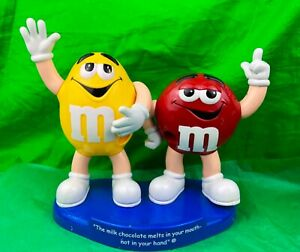 Mars M Ms Red And Yellow The Milk Chocolate Melts In Your Mouth Candy Dispenser Ebay