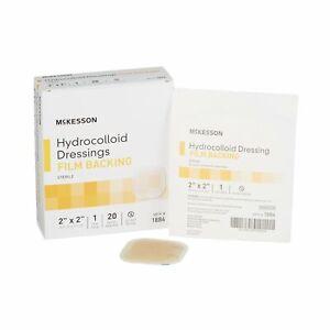 """Hydrocolloid Dressing McKesson 2 X 2"""" Square Sterile (Bag of 20)"""