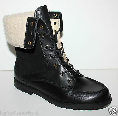 Bass NWOB Women's Mae 7 Suede & Leather Boots w/ Cuff & Faux Sherpa Lining