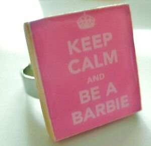 BARBIE-RING-keep-calm-and-be-a-barbie-pink-ring-handmade-unique-barbie-gift