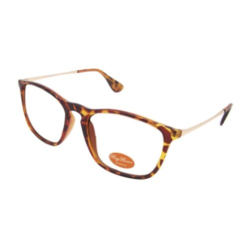 VINTAGE round retrò occhiali occhiali di corno vetro chiaro ray1536