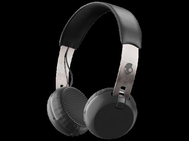 Auriculares Inalámbricos - Skullcandy Grind, Bluetooth, Micro, Negro y plata