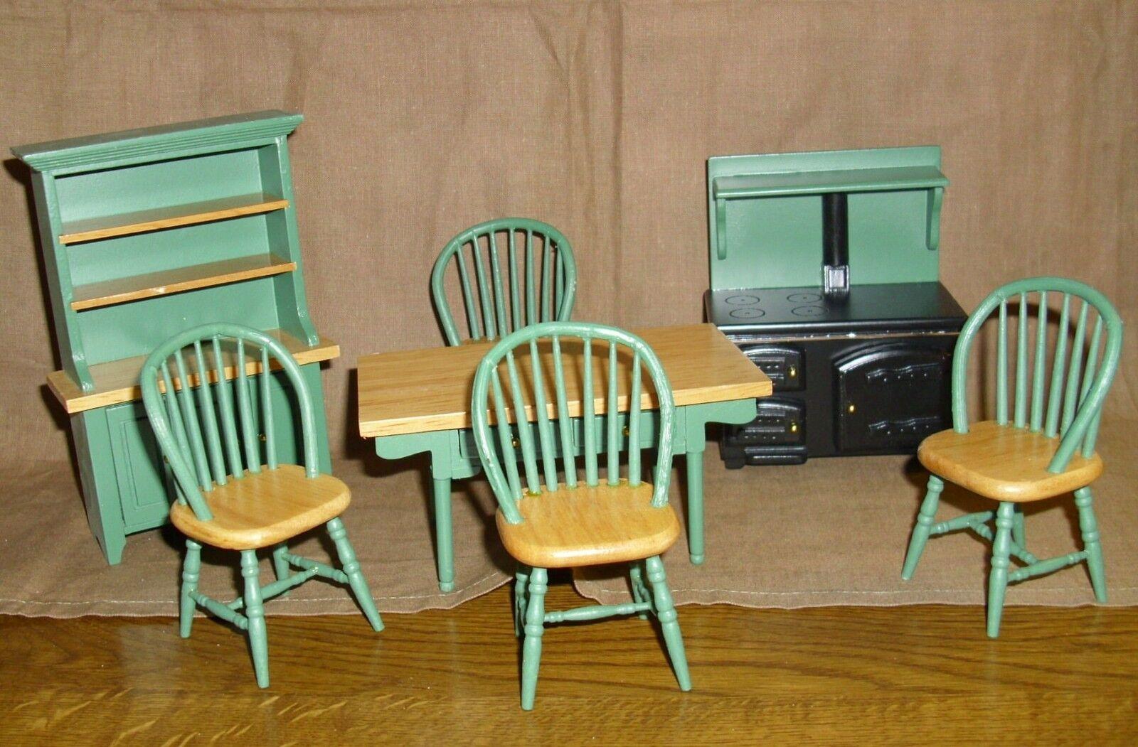 Komplette Küche - buche buche buche   grün - incl. Herd  - Miniatur 1 12 7d7ab3