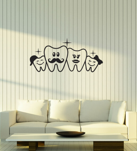 Vinyl Decal Style Wall Sticker Teeth Dental Clinic Doctor Decor (g052)
