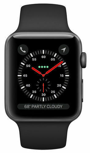 Apple Watch Series 3 38mm Space Gray Aluminium Case Sport Band Smart Watch Mqkv2ll A For Sale Online Ebay