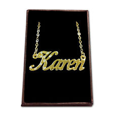 Gold Plated Name Necklace - KAREN - Gift Ideas For Her - Pendant Personalised