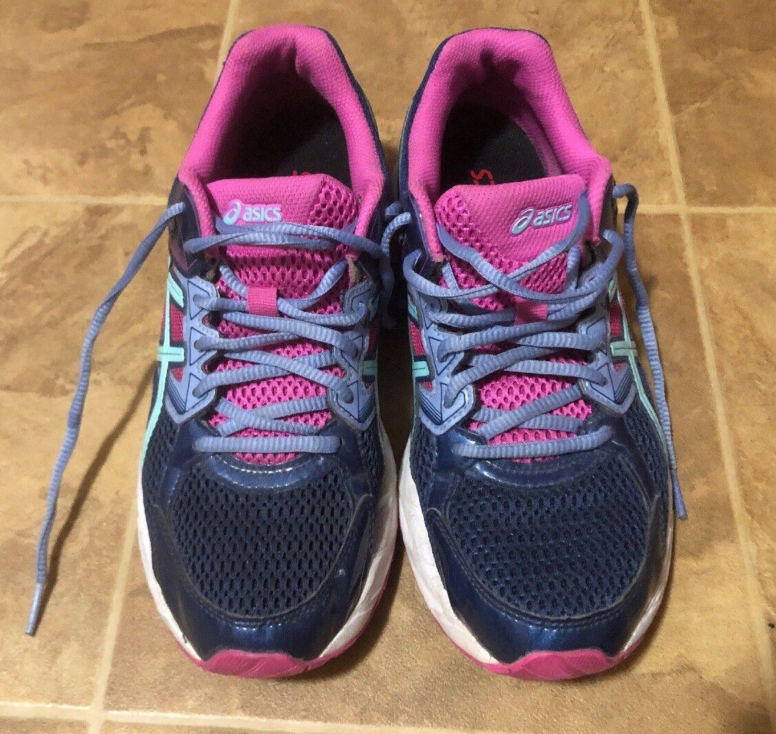 Asics Gel Contend 3 Athletic Indigo bluee Pink Aqua Running shoes Women's Size 9