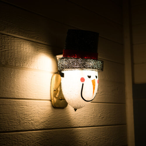 Snowman Porch Light Cover — Light up Your Night