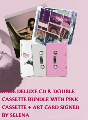 Selena Gomez RARE Deluxe CD Pink+White Cassettes /& Signed Art Card Sold Out UK!