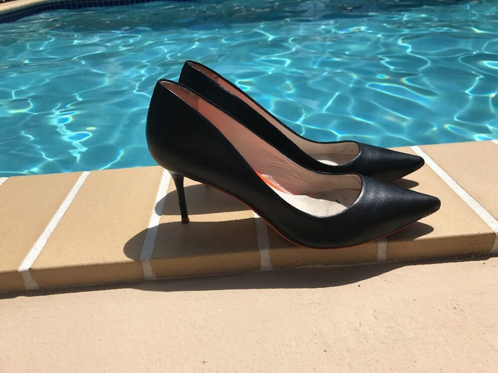 Sophia Webster schwarz LEATHER CLASSIC CASUAL PUMPS Sz 39M MADE MADE MADE IN ITALY 88284d