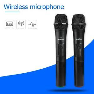 2pcs-Smart-Wireless-Microphones-Handheld-Mic-w-USB-Receiver-for-Karaoke-Speech
